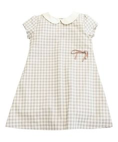 Look what I found on #zulily! Gray Fawn Checkerboard Amelie Dress - Toddler & Girls #zulilyfinds