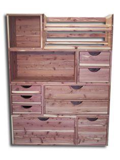 Modular Cedar Closet Storage system...wonderful