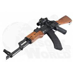 CYMA Kalashnikov AKM Airsoft Rifle AEG Sniper Kit. Airsoft Gear, Akm, Bang Bang, Guns, Weapons Guns, Revolvers, Weapons, Rifles, Firearms