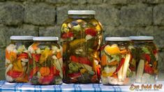 Hungarian Recipes, No Bake Cake, My Recipes, Preserves, Pickles, Cucumber, Chili, Mason Jars, Food And Drink