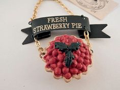 Strawberry Pie Christmas Ornament Kitchen Wall by TKSPRINGTHINGS
