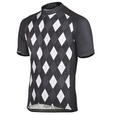 Andorra Performance Jersey - Charcoal | DannyShane | Designer Cycling Apparel of Bamboo White Ash Fabric