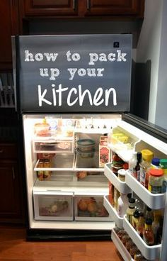 The DIY Playbook teaches us how to pack up the tough spots in your kitchen: the pantry, refrigerator, and freezer. Moving House Tips, Moving Home, Moving Day, Moving Tips, Moving Hacks, Organizing For A Move, Kitchen Organization Tips, Organization Ideas, Organizing Tips
