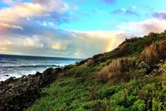 Startle member Andrew Graves of Chicago hiked the Na Pali Coast Trail to Hanalau Beach in Kauai and caught this rainbow.