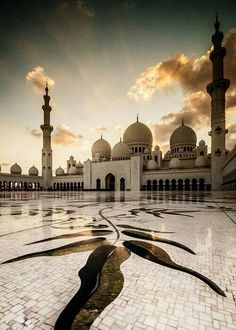 Sheikh Zayed Grand Mosque is located in Abu Dhabi, the capital city of the United Arab Emirates. Sheikh Zayed Grand Mosque was initiated. Places Around The World, Oh The Places You'll Go, Travel Around The World, Places To Travel, Around The Worlds, Abu Dhabi, Beautiful Mosques, Beautiful Buildings, Taj Mahal