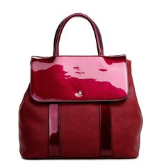 Bolsa de mão clássica vermelha com detalhes em verniz - Niege : Detalhes do Produto - catálogo dotz - onde você gasta os seus dotz