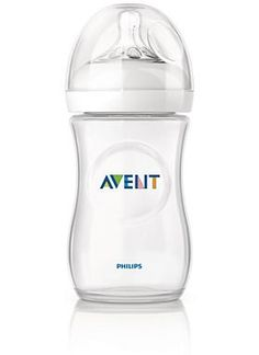 Philips Avent Natural Bottles - this is what I plan to use when breast feeding isn't possible (i. - when there is a baby sitter) Best Baby Bottles, Glass Baby Bottles, Avent Natural Bottles, Avent Baby Products, Bottles For Breastfed Babies, Baby Bottle Sterilizer, Bottle Picture, Bottle Images, Bottle Feeding