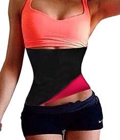 TAILONG Sports Waist Trainer Corset Girdle Workout Shaper Fitness Slimming Belt L Rose Red * Find out more about the great product at the image link.