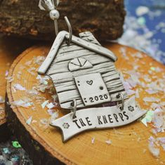 Log Home Cabin Christmas Ornament Personalized Cabin   Etsy