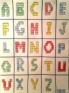 Abecedario Lego ABC