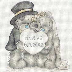 Love Celebration Me to You Bear Cross Stitch Kit Personalised