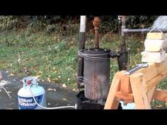 Bio-Char, Bio-Oil & Syngas from Wood Pyrolysis. Soil enrichment, fuel, and natural gasses all from wood. This seems to be an efficient way of extracting energy from wood.