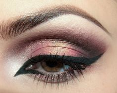 Rose gold and perfect eyeliner