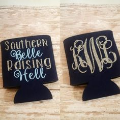 These personalized koozies are heat pressed with a design and color of your choice! They are approximately 4H x 4W, the perfect size to keep
