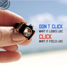Don't click what it looks like. Click what it feels like.
