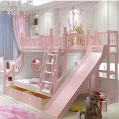 Are you looking for latest kids bedroom? Here are more than 50 exellent kids bedroom ideas . boys and girls, twins, with toys storage, cabinets, bunk bed Cute Bedroom Ideas, Girl Bedroom Designs, Awesome Bedrooms, Cool Rooms, Bed Ideas, Kids Bedroom Ideas For Girls, Bed Designs, Baby Girl Bedroom Ideas, Toddler Bedroom Ideas