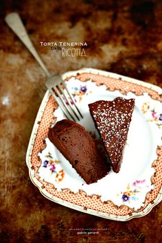 PANEDOLCEALCIOCCOLATO: Torta Tenerina con la ricotta - Chocolate Cake