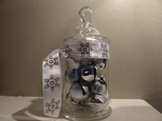 Christmas Apothecary Jar filled with by MYSTICALLYENCHANTING, $14.99
