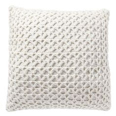 Lattice Knit Pillow Cover, 24