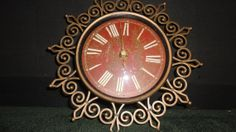 Sterling & Noble Gold open artsy clock by PatsapearlsBoutique, $9.99