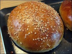 Magique: Hamburger buns in 45 min - On the desk of Gaelle rapido burger bread, attempt with out butter and with vegetable margarine Burger Bread, Desserts Français, Mini Burgers, Hamburger Buns, Dinner Rolls, Hamburgers, Cooking Time, Brunch, Food And Drink