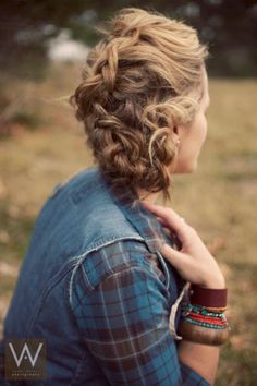 Probably just a French braid but then some kind of wrap around