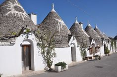 Mysterious signs at the Trulli-houses in Alberobello, Italy