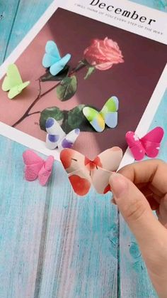 Shop Colourful Origami Paper, Knitting Quilting and Sewing Tools here! You can More Diy Crafts and Projects Christmas Diy Gift Ideas Here! Cool Paper Crafts, Paper Flowers Craft, Flower Crafts, Diy Paper, Paper Butterfly Crafts, Paper Pin, Diy Butterfly Decorations, Colorful Crafts, Origami Decoration