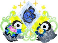 おしゃれで可愛い赤ちゃんペンギンと不思議な宝石