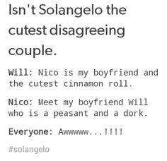 Solangelo in a nutshell