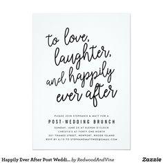 Elegant Picture of Wedding Brunch Invitations Wedding Brunch Invitations Happily Ever After Post Wedding Brunch Invitation Wedding Post Wedding, Wedding Tips, Wedding Planning, Dream Wedding, Wedding Day, Budget Wedding, Wedding Venues, Casual Wedding, Wedding Stuff