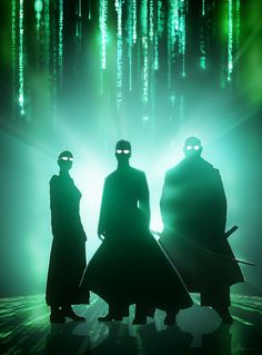 "*What is The Matrix"". After I did the first three images, I just had to do this one too. Now I'm done with this Flash from the Past. Had fun with these.... #matrix, Neo, Morpheus, Trinity"