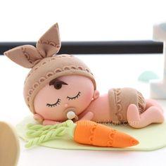 Sleepy little baby bunny  #mutludukkan #sekerhamuru #butikpasta #sugarart