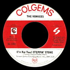 monkees 45 label I'm not your steppin stone 45 Records, Vinyl Records, Songs To Sing, Music Songs, R&b Albums, Classic Rock And Roll, Rock N Roll Music, Old Music, The Monkees