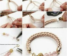 DIY bracelet technique.