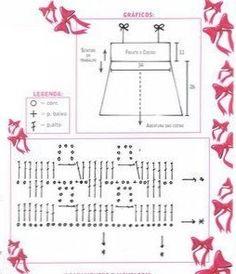 filles 11.. Girl's crochet top pattern diagram