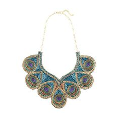 Peacock Sequin Necklace