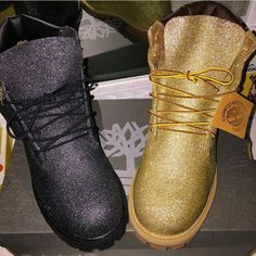 Fucking Gold Timberland Boots. Wtf