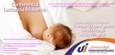 """La leche materna se ha ganado el título del """"alimento ideal"""" porque tiene la composición justa para las diferentes etapas de desarrollo del bebé Te esperamos!! No faltes!!"""
