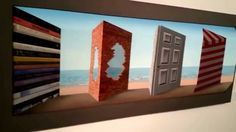 Impossible 3D Painting Patrick Hughes Cardboard and ink 2015