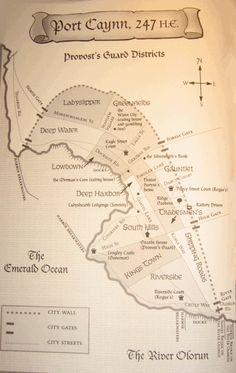map of Port Caynn from the Beka Cooper trilogy (Tortall universe) by Tamora Pierce Fantasy World Map, Fantasy Books, Young Adult Fiction, Fictional World, Nerd Geek, Book Fandoms, Book Authors, Book Nerd, Bibliophile