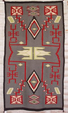 These rugs are made with no directions and woven by hand by the Navajo Indians.  They are truly amazing!