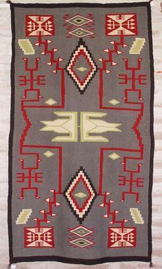 Germantown Storm Pattern Navajo Rug circa 1910