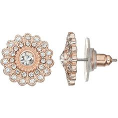 LC Lauren Conrad Starburst Stud Earrings ($9.80) ❤ liked on Polyvore featuring jewelry, earrings, light red, red earrings, fake stud earrings, artificial jewellery, fake jewelry and lc lauren conrad