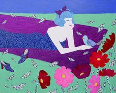 Rest-마음의노래, Acrylic on canvas.162.2x130.3cm, 2013 by 김미숙, 아트뮤제갤러리