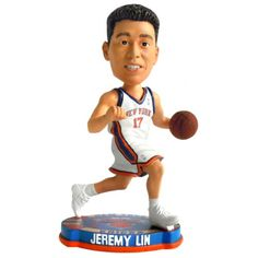 b544b66f64b NBA New York Knicks Jeremy Lin 2012 Basketball Base Bobble Home