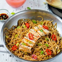 This Sesame Chili-Garlic Noodles are gluten free, meatless, spicy, and garlicky. I would have with grilled chicken instead of tofu though...lol.