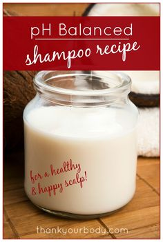 "pH Balanced Shampoo Recipe - Coconut Milk and pure aloe vera This recipe uses two of my favorite ingredients (and nothing else!), which I always have on hand. I will definitely be trying this, though I think I will tweak the recipe to lower the oil content, bring up the liquid, and add a touch of ""cleansing,"" possibly through clay, castile, or baking soda."