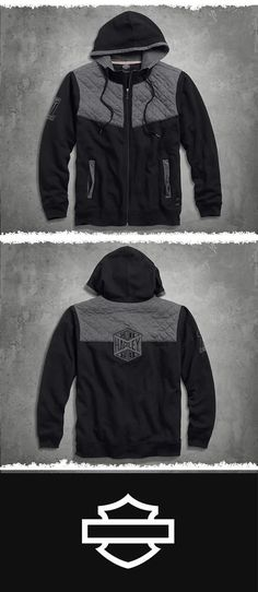 The Quilted Yoke Hoodie makes an awesome addition to your Black Label stash. 883 Harley, Harley Gear, Harley Davidson Iron 883, Harley Davidson Motorcycles, Harley Davidson Online Store, Harley Davidson Merchandise, Biker Wear, Riding Gear, Biker Chick