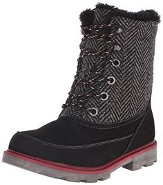 Roxy Women's Caballero Winter Boot, Black, 6 M US
